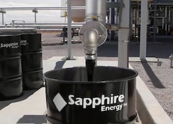 SAPPHIRE ENERGY, INC. GREEN CRUDE OIL ALGAE