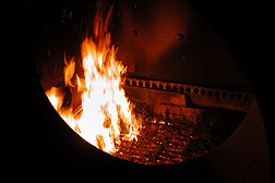 burning switchgrass