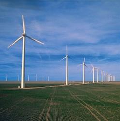 Cielo Wind Power farm in Texas