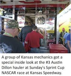 Kansas Mechanics at NASCAR race