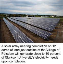 Clarkson University solar array