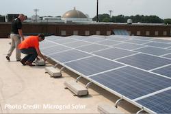 U.S. Bank and Microgrid Solar nonprofit solar installation
