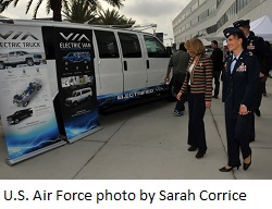 U.S. Air Force tests first all-electric vehicle fleet in California