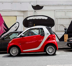Mercedes-Benz Smart ForTwo Electric Drive Convertible/Coupe wins Greenest Car of 2015 on Greencars.org. Photo: Mercedes-Benz