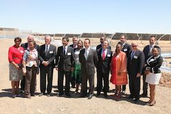 Representatives of the South African government, IDC and Abengoa during the grand opening of Kaxu Solar One.