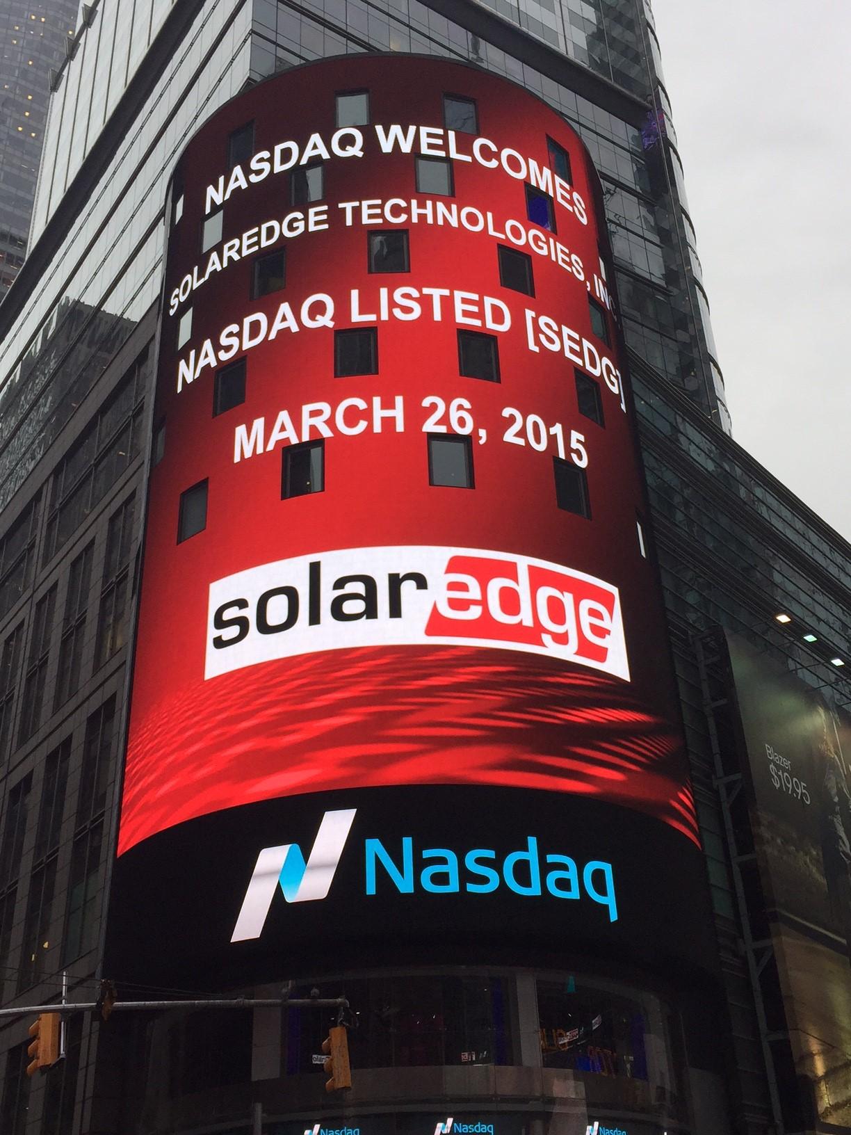 SolarEdge on Nasdaq