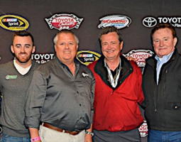 American Ethanol driver Austin Dillon, National Corn Growers Association president Chip Bowling, Growth Energy CEO Tom Buis, RCR Racing owner Richard Childress