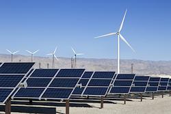 © Kennytong | Dreamstime.com - Solar Panels And Wind Turbine Power Photo