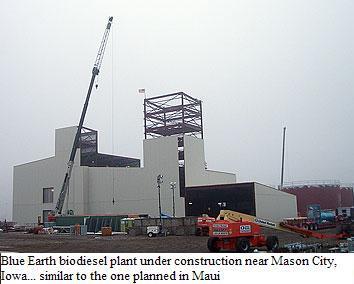Blue Earth biodiesel plant
