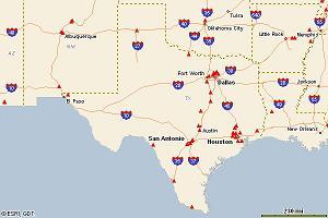 Texas E85 Map