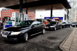 Tanking of the Volvo VIP Fleet with Biomass Made from Waste