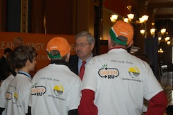 Chasing Methane Team with IA Gov Terry Branstad