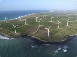 Wind farm in Ireland