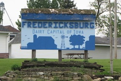 welcome_sign_fredericksburg_iowa photo from http://iowabackroads.com