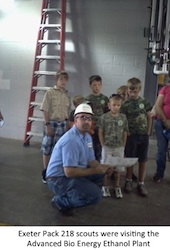 Kids Visiting Advanced Bio Energy Plant