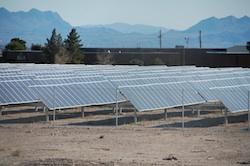 Solar Farm in Las Vegas Photo- Joanna Schroeder