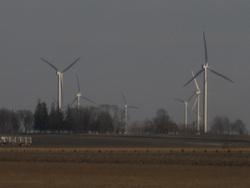 Wind Farm at Dusk Photo Joanna Schroeder