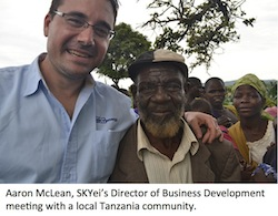 Aaron McLean in Tanzania