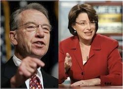 Senators Grassley and Klobuchar