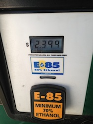 E85 Price in Des Moines Iowa 9-4-2013