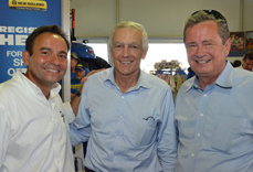 Pictured left to right: Abe Hughes, New Holland; Wesley Clark and Tom Buis, Growth Energy