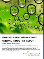 Biofuels Benchmarking Report cover