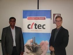 Lto R- Citec India MD Mr. Nasir Mulani with Energy Ambassador Mr. Pentti Itkonen