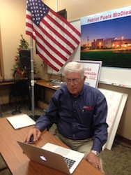 Gene Griffith with Patriot Renewable Fuels signing the White House We the People petition in support of the RFS. The petition needs 100,000 by Dec. 26, 2013 for the 2014 Proposed renewable fuel volumes to be reviewed by President Obama.