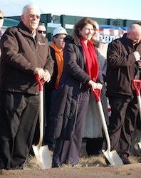 Gene Griffith, Patriot Renewable Fuels and Illinois Representative Cheri Bustos break ground on Patriot's 4-5 million gallon biodiesel facility.
