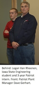 Patriot Plant Manager Dave Gerhart