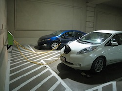 EV bay at Mandalay Bay