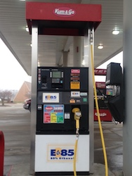E85 pump in Ottumwa Iowa