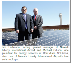 Newark International Airport solar array