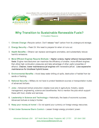Why Transition to Sustainable Renewable Fuels