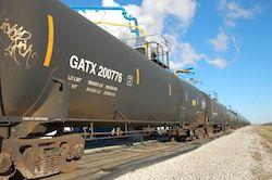ethanol rail car at Patriot Ethanol