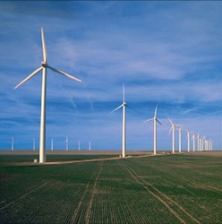 Cielo Wind Power farm in Texas
