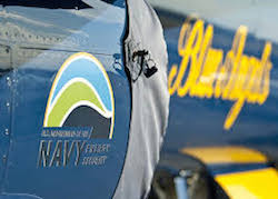 Navy Blue Angels flying on biofuels