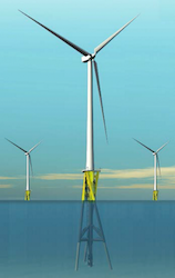 twisted jacket formation for offshore wind energy