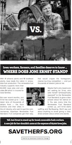 Americans United for Change Des Moines Register pro-RFS ad