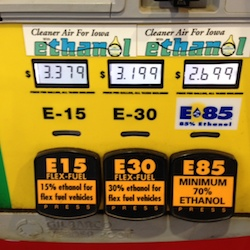 Flex Fuel Pump at Hy-Vee Mills Civic Parkway in Des Moines IA 6-16-14