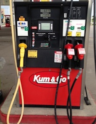 Kum and Go E85 station in Stuart, IA on June 16, 2014. Price: $2.74 per gallon. Photo; Joanna Schroeder