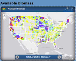 USDA Biomass Energy Map