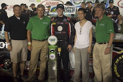 Erik Jones No 51 winner of 2014 American Ethanol 200 presented by Syngenta