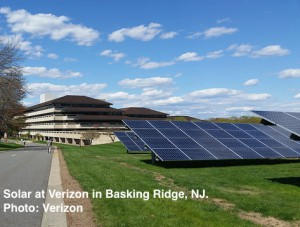 Verizon solar farm Basking Ridge NJ