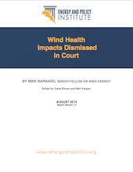 Wind Health Impacts Dismissed in Court