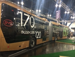 60-foot BYD transit bus