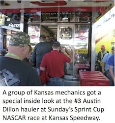 Kansas Mechanics at NASCAR race