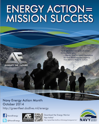 Navy National Energy Month poster