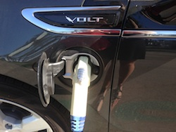 Chevy Volt at charging station