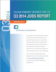 E2 Q32014 Clean Energy Jobs Report